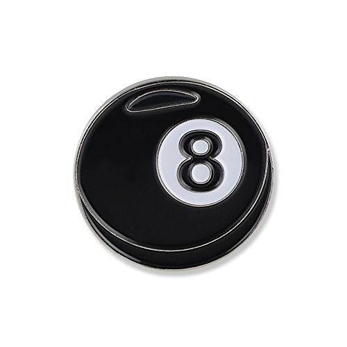 Forge Eightball Emoji Magic 8 Ball Billiards Cue Pool Snooker Black Enamel Lapel Pin- 1 Pin