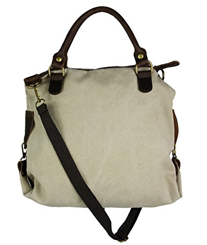 2 L Donna Pelle Bag In Misure Beige Canvas Stella qWUT8WwApO