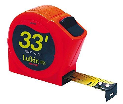Lufkin PHV1433 Power Return Tape, 1-Inch by 33-Feet, Hi-Viz Orange
