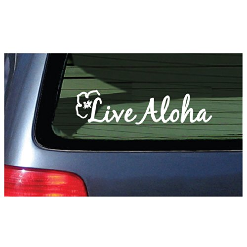 Window Sticker Flower Hawaii Design