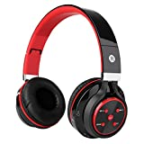 Bluetooth Headphones, KAYSN Foldable Wireless Over Ear Headphone Stereo Headset Compatible with Smartphones, Tablets, PC and Laptops (red) Review