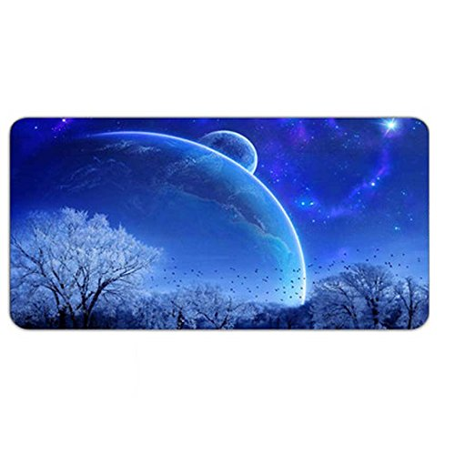 Price comparison product image Mousepad Large Blue Galaxy Nebula Space Starry Star Sky Night Non-Slip Rubber Mouse Mat Gaming Mouse Pad Comfortable Feel moptmos 800x400x2.5mm (31.49x15.75inches)
