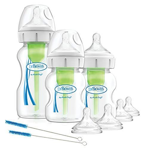 Dr. Brown's Natuurlijke Flow Opties+Anti-Colic Baby Flessen Starter Kit