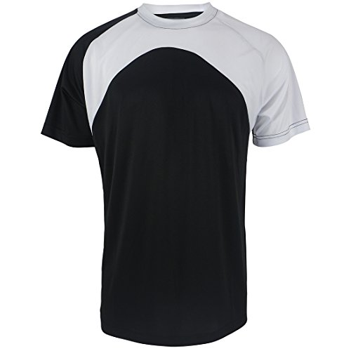 Gary Com Contrast Color Sports T Shirts for Men Short Sleeve Athletic Crew Neck Casual Tee Active Clothing -