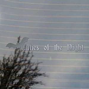 amazon com cuties of the night bat vampire vinyl decal silver