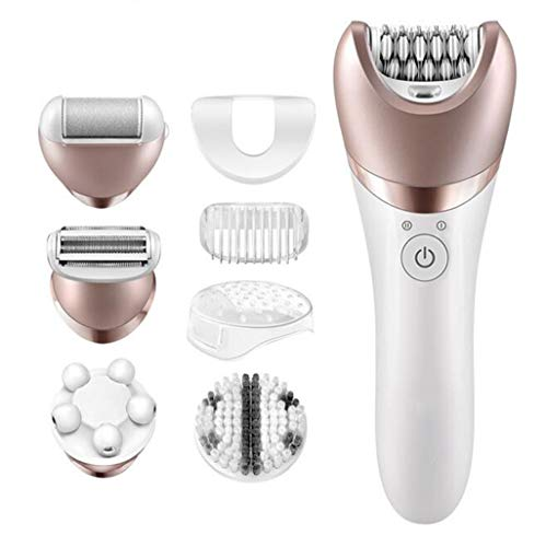 Electric Shaver Women,Frequency Massage Roller Electric Epilator 5In1 Set Cordless 2 Hours Wet Or Dry Electric Hair Removal Body Exfoliation And Massage Callus Remover Bikini Trimmer