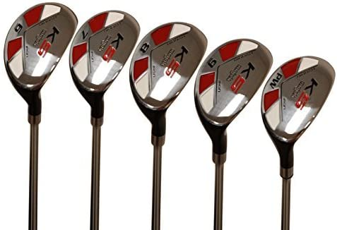 Majek Men s Golf All Hybrid Partial Set, which Includes 6, 7, 8, 9, PW Senior Flex Right Handed New Utility A Flex Club