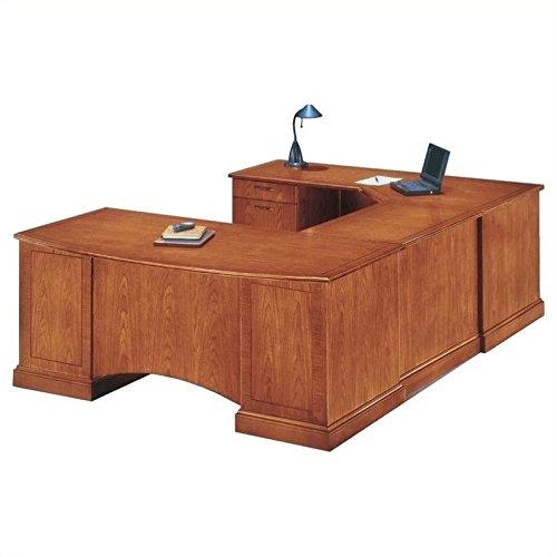 DMi Belmont Left Executive Corner U-Shaped Desk - Brown
