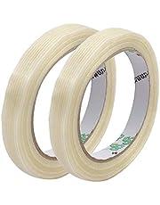 X-DREE 2Pcs 12mm Width 0.22mm Thickness Stripe Type Filament Strapping Tape 25m Length (2Pcs 12mm Largeur 0.22mm Épaisseur Type de Bande Filament Cerclage Bande 25m Longueur