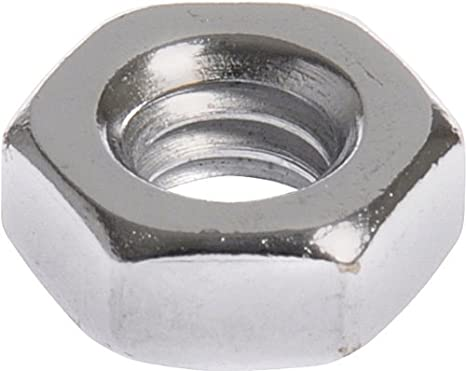 60-Pack The Hillman Group The Hillman Group 1059 Chrome Machine Screw Nut 10//24 In