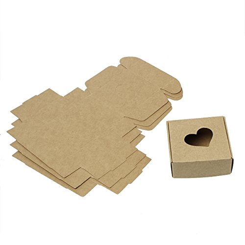 30 Pack Small Kraft Brown Gift Box (3x3x1 Inch with ()