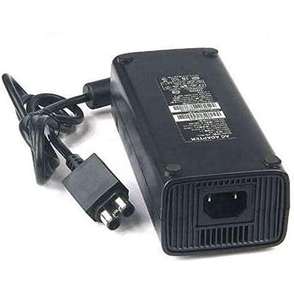 Fuente de Alimentación Adaptador CA 100-245V para X-Box 360 (Cargador de reemplazo Ideal, Fino con luz indicadora LED Enchufe de la UE) - Color: Negro: Amazon.es: Informática