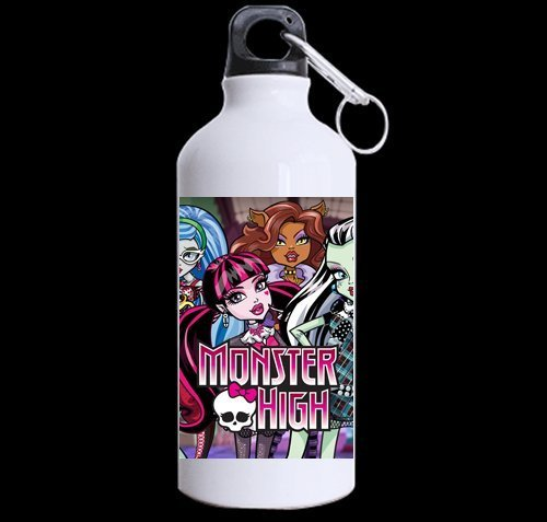 Custom Monster High picture 100% super-strong recycled aluminum Sports Water Bottle Mug 13.5 OZ (Twin (Monster High Customs)