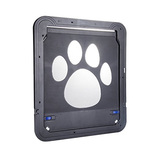 Petetpet dog door cat doors pet screen door with magnetic for Automatic locking dog door