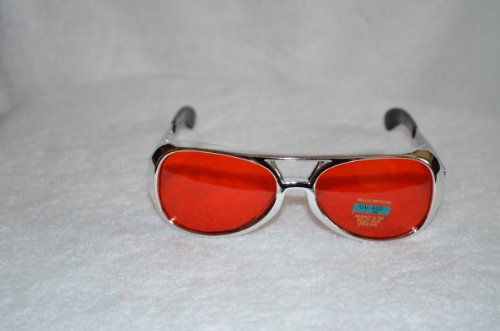 Small Red Elvis Sunglasses with Silver Frame - Aviator - Sunglasses Aviator Elvis