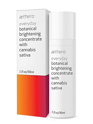 Aethera Beauty Everyday Botanical Brightening Concentrate with Cannabis Sativa - A nourishing antioxidant-rich oil that illuminates and moisturizes skin (Best Everyday Face Cream)