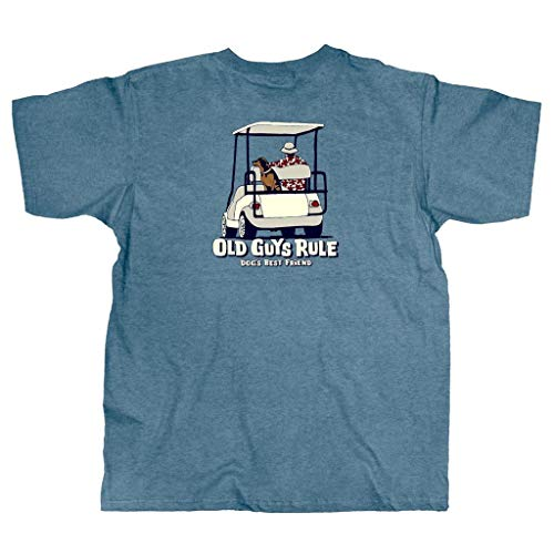 Rule Friends (Old Guys Rule Men's Dogs Best Friend T-Shirt (Large))