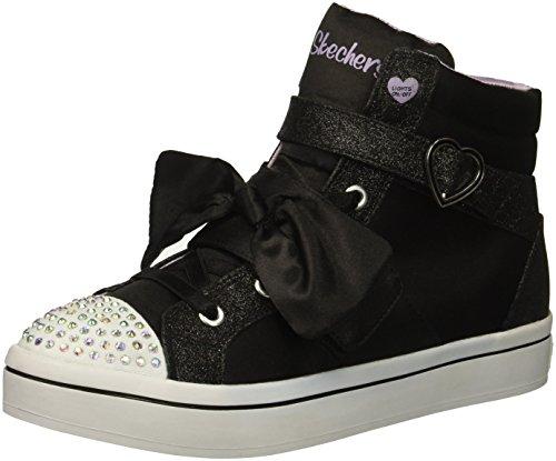 TWI-Lites-Bow Beautiful Sneaker, Black, 11 Medium US Little Kid ()