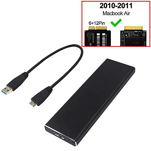 GODSHARK PCIe SSD Enclosure for 2010 2011 MacBook Air, USB 3.0 External Reader for A1369 A1370 SSD Adapter with Case, Support Model MC503 MC504 MC965 MC966 MC505 MC506 MC968 MC969