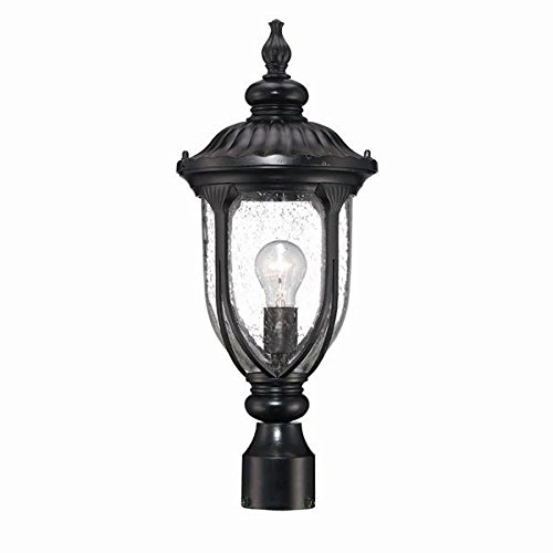 Acclaim 2217BK Laurens Collection 1-Light Post Mount Outdoor Light Fixture, Matte Black by Acclaim