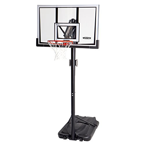 Lifetime 90061 Portable Basketball System, 52 Inch Shatterproof Backboard 90061