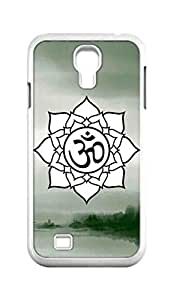 Cool Painting OM Lotus Flower Snap-on Hard Back Case Cover Shell for Samsung GALAXY S4 I9500 I9502 I9508 I959 -1201