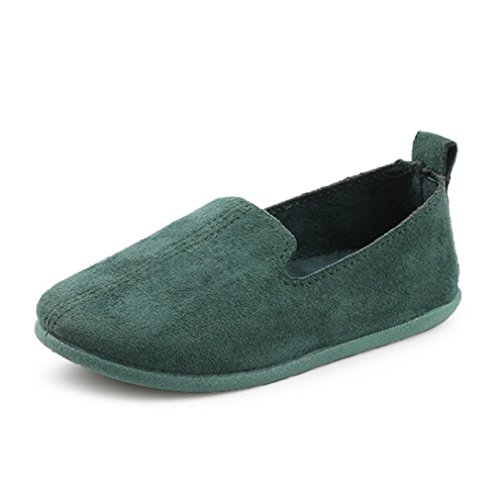 UNI Angel Toddler Loafers Little Kid Girl's Boy's Suede Slip-on Loafers Casual Comfort Flat Shoes Green]()