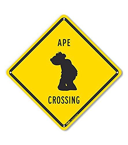 PetKa Signs and Graphics PKAC-0429-NP/_10x10Ape Crossing Plastic Sign 10 x 10