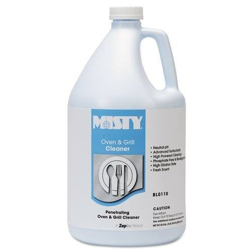 Misty 1038695 Heavy-Duty Oven and Grill Cleaner, 1 gal. Bottle (Case of 4)