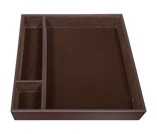 Dacasso Chocolate Brown Leather Conference Room Organizer Tray (A3440) (Leather Conference Room Organizer)