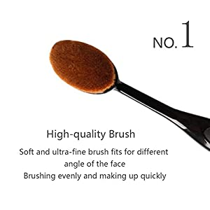 HaloVa Makeup Brush, Liquid Powder Cream Foundation Brush, Cosmetic Makeup Tools for Contouring Sculpting Highlighting With Cover, Black