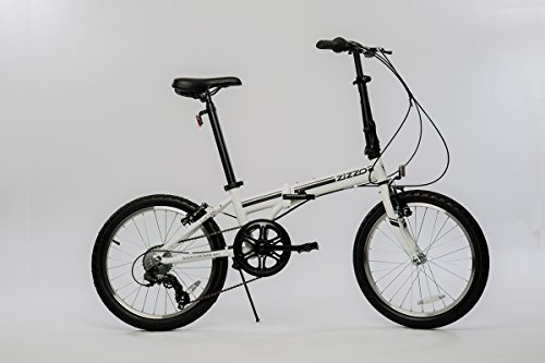 EuroMini Campo Lightweight Aluminum Frame Shimano 7 Speed 28Lb Folding Bike, Matte Black, 11'/One Size