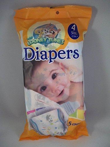- Baby Looney Tunes Size 4 Diapers (5 Count) Bugs Bunny Tweety Bird Licensed