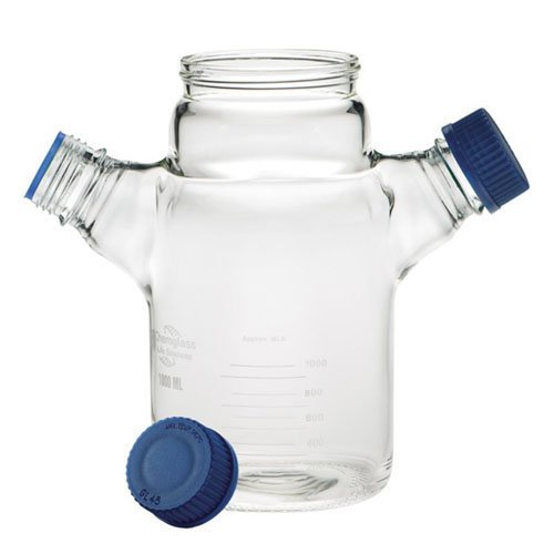 Chemglass CLS-1400-25  Series CLS-1400 Replacement Spinner Flask, Flat Bottom, 38 mm OD, 120 mm Height, 25 mL, Glass
