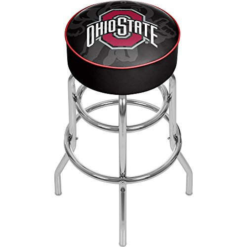 "NCAA Ohio State University ""Shadow Brutus"" Padded Swivel Bar Stool"
