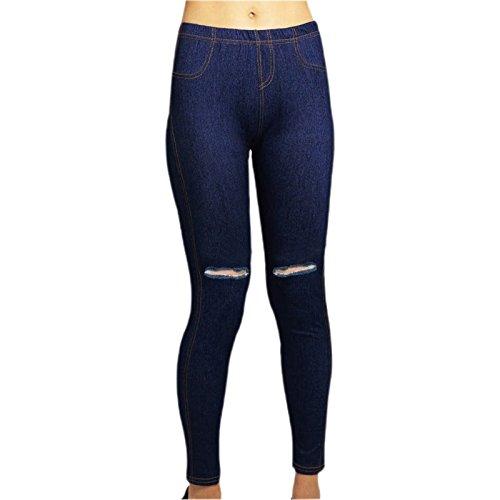 Jeans Size High Navy Black Jegging Slim Ripped Navy Pencil Skinny Plus Waist Women Stretch qEWn7Hgnw