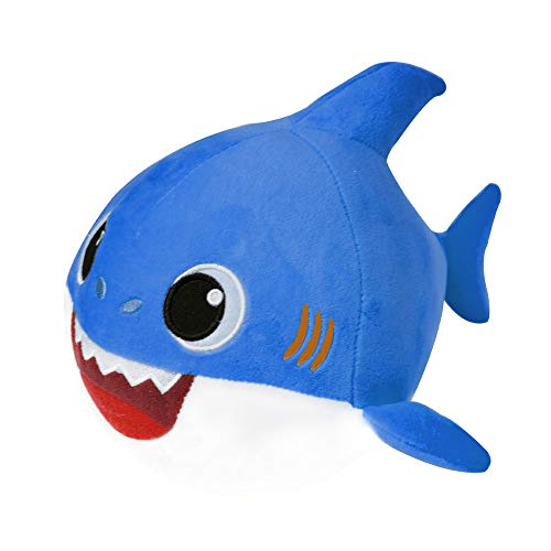(MY BIBY Baby Shark Singing Dancing Plush Toy Singing Dancing Baby Shark Stuffed Animal Doll Toys,Great Gift for Baby Kids (Blue))