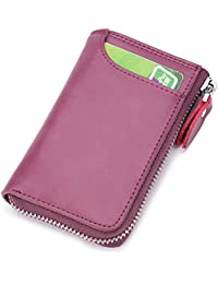 Men Key Case, Key Wallet, Small Mini key Holder, Genuine Leather ID/