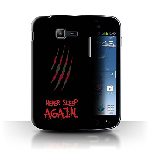 STUFF4 Phone Case/Cover for Samsung Galaxy Trend 2 Duos/S7572 / Freddy Krueger Inspired Art Design/Horror Movie Art Collection]()