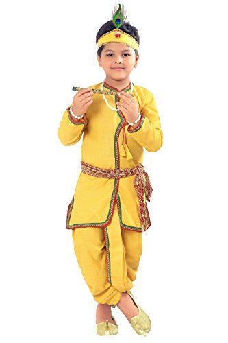 Dhoti Kurta (ahhaaaa Kids Ethnic Yellow Krishna Dress for Kids Boys)