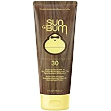 Sun Bum Original Moisturizing Sunscreen Lotion 3 oz Tube, Broad Spectrum UVA/UVB Protection, Oil Free, Hypoallergenic, Paraben Free, Gluten Free, Vegan