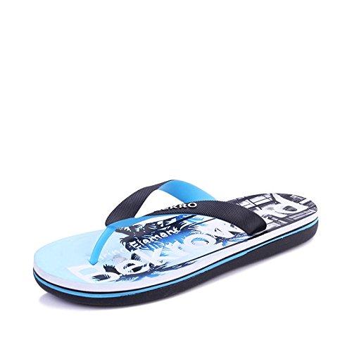 Xing Lin Sandalias De Hombre Las Zapatillas De Playa Zapatillas Para Hombres Sandalias De Verano Temporada Nuevo Calzado Antideslizante De Goma Caballo Ocio Fresco 40 Azul