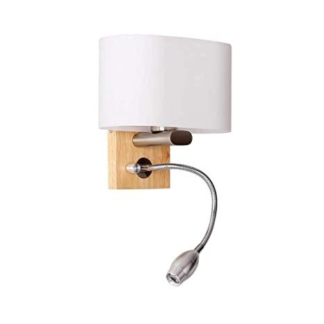 Applique Murale Moderne En Bois Avec Flexible Reglable Led 3w Lampe