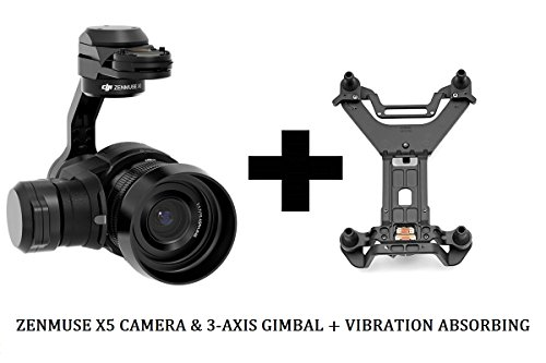 DJI Zenmuse X5 Camera & 3-Axis Gimbal with 15mm f/1.7 Lens + X5 Vibration Absorbing Board for INSPIRE 1 / Inspire 1 Pro / Raw Combo