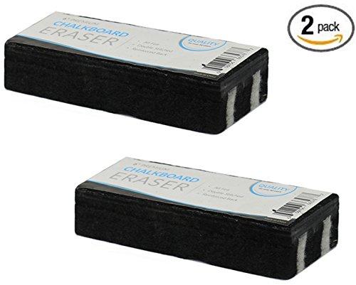 Set Eraser 2 (Traditional Chalkboard Eraser, All Felt 6 Inch Premium Quality Chalk Eraser, Set of 2 (2 Pack))