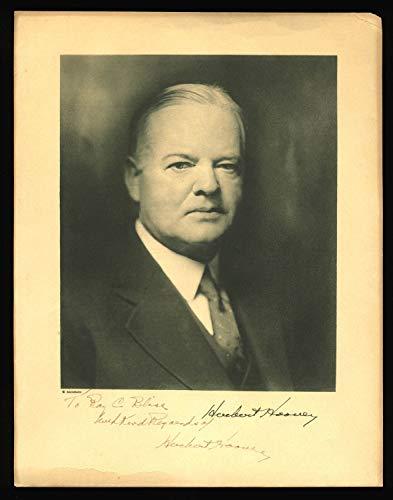 Herbert Hoover With Kind Regards Autographed Signed 85X11 Cardstock Photo Bas #A05076 - Certified Signature (Best Regards Kind Regards)