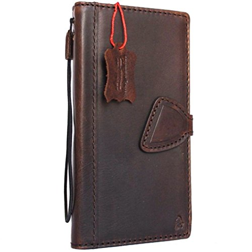 Genuine natural real Leather Case for Samsung Galaxy S8 plus Book Wallet Luxury Cover S Handmade Retro Id cards slots s 8 brown chocolate daviscase