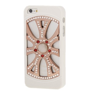 SCSY-phone case Para IPhone 5 & 5s & SE 2-Color Diamante incrustado caja de plástico hueco ( SKU : S-IP5G-2175B ) S-IP5G-2175B