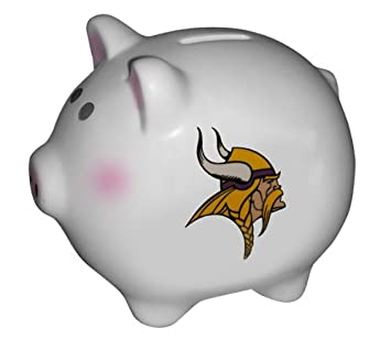 amazon co jp nfl minnesota vikings logo piggy bank スポーツ