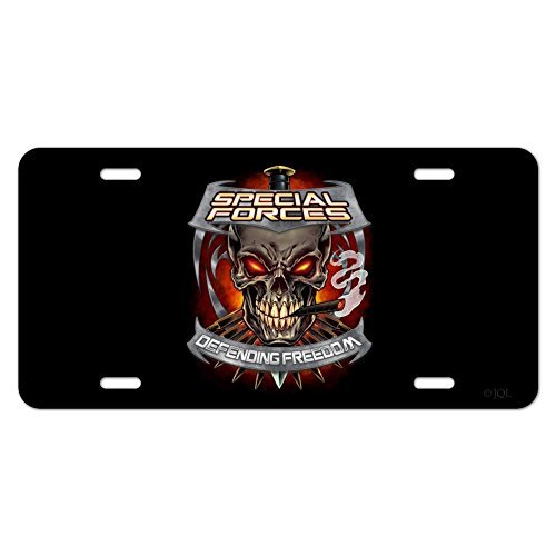 zaeshe3536658 Special Forces Defending Freedom Skull Bullets Novelty Metal Vanity Tag License Plate Auto Tag 12 x 6 inch. by zaeshe3536658